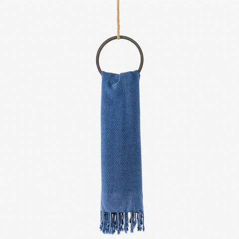 turkish towel stone blue