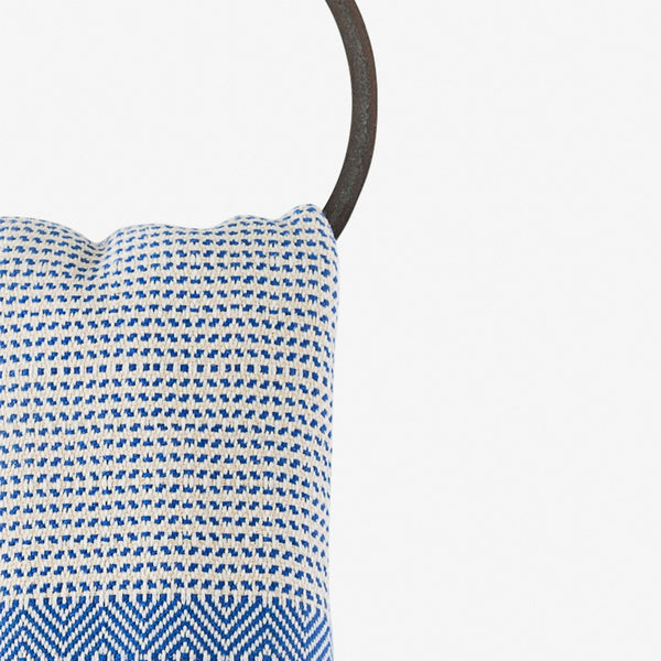 turkish towel su diamond cobalt blue hanging