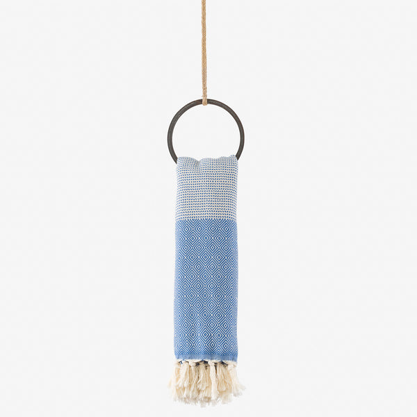 turkish towel su diamond cobalt blue