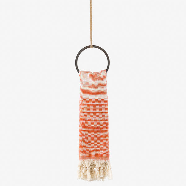 turkish towel su diamond orange