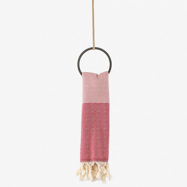 turkish towel su diamond red