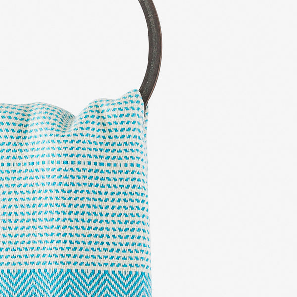 turkish towel su diamond turquoise hanging