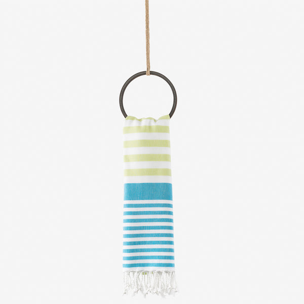 turkish towel summer brights turquoise & lime