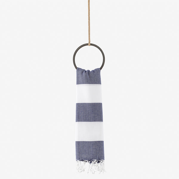 turkish towel nautical navy & whte