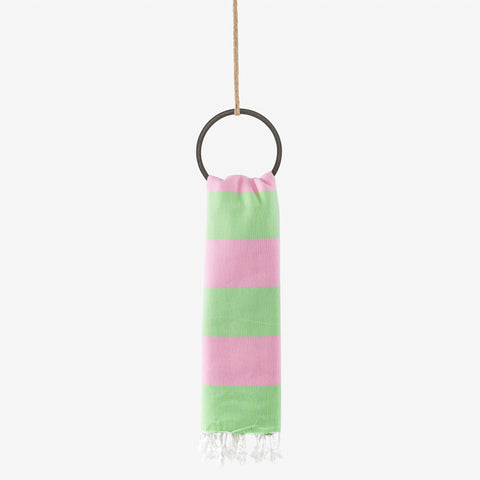 turkish towel nautical pink & lime