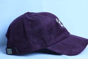 BURGUNDY SUEDE CROWN DAD CAP