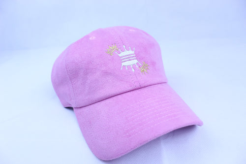 PINK SUEDE CROWN DAD CAP