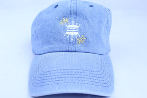 LIGHT BLUE DENIM CROWN DAD CAP