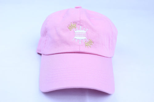 PINK CROWN DAD CAP