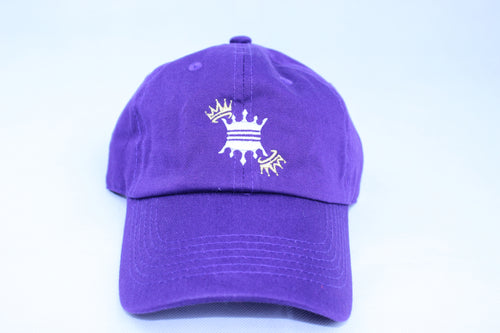 PURPLE HAT CROWN DAD CAP