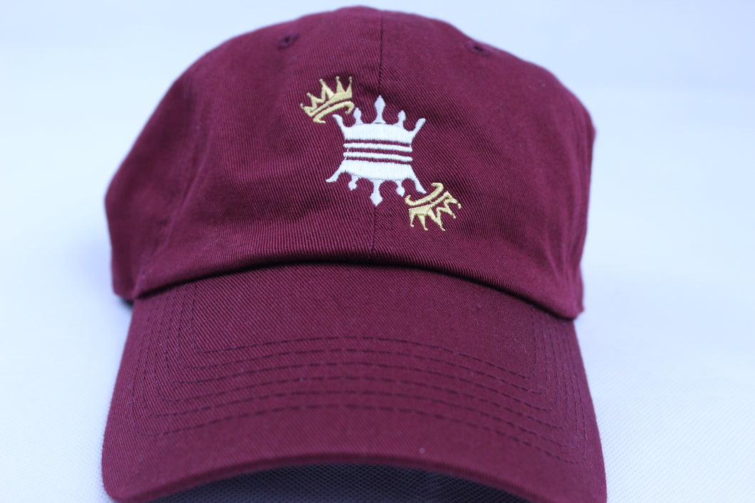 BURGUNDY CROWN DAD CAP