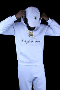 UNISEX CROWN WHITE SWEATSUIT