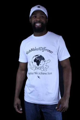 LET'S MAKE A DIFFERENCE ( T-SHIRT ) WHITE