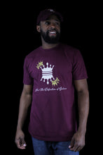 Load image into Gallery viewer, MENS CROWN T-SHIRTS BURGUNDY