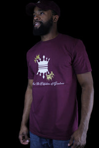 MENS CROWN T-SHIRTS BURGUNDY