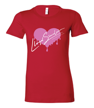 Load image into Gallery viewer, WOMENS HEART DRIP TEE