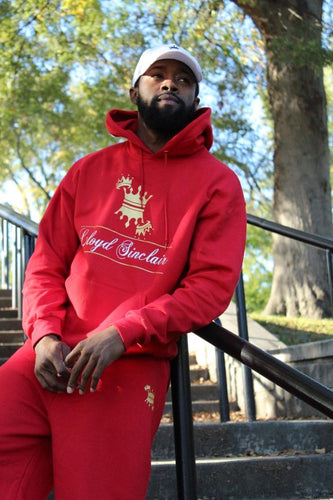 UNISEX CROWN RED SWEATSUIT