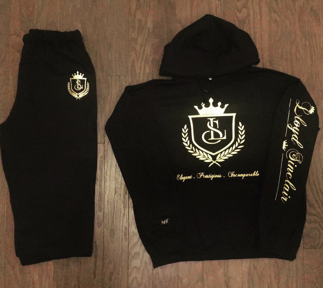 UNISEX 24K HOODED SWEATSUIT