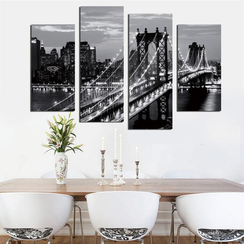 Image of Brooklyn Bridge Canvas Wall Art