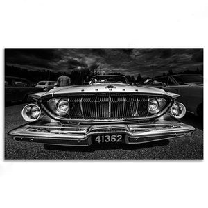 Vintage Black And White Retro Car