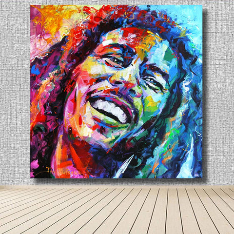 Image of Bob Marley Canvas Wall Art
