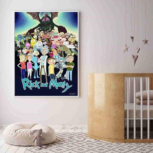 Rick And Morty Characters Canvas Wall Art