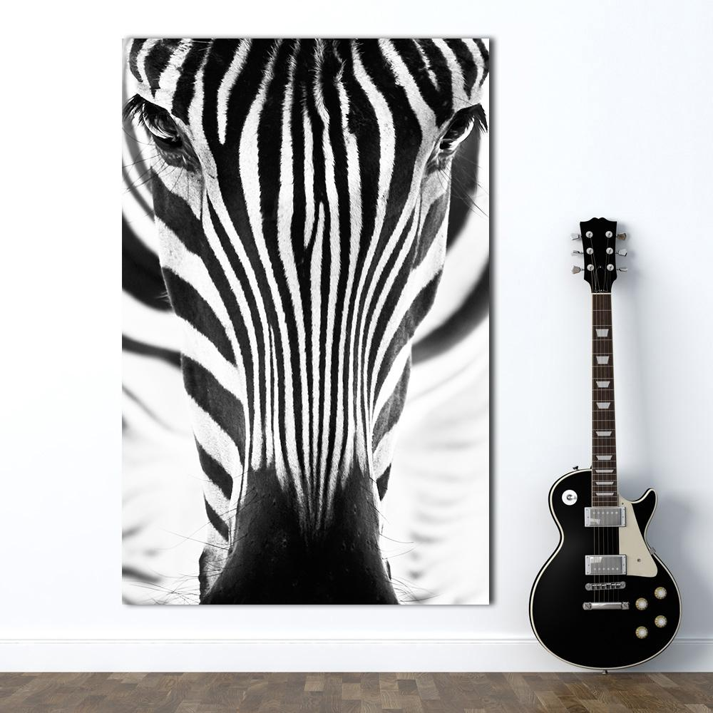 Minimalism Wall Art Zebra Painting