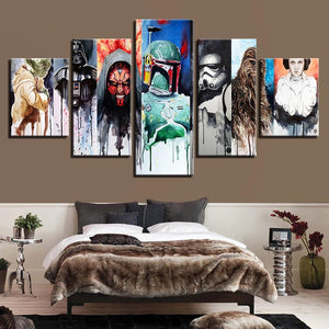 Star Wars Movie Character Canvas Wall Art