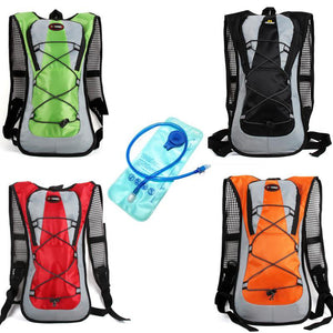 Easy hydration backpack with water bladder
