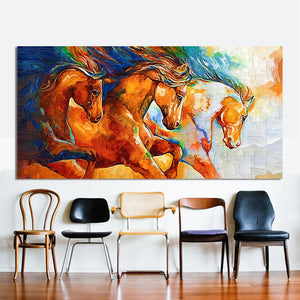 The Three Horses Canvas Wall Art