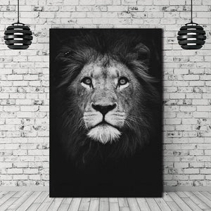 The Lion Canvas Wall Art