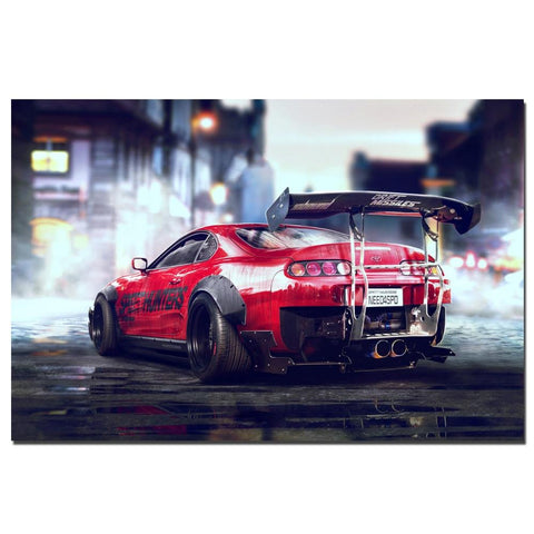 Toyota Supra Sports Car Wall Art