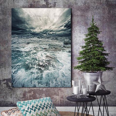 Sea Water Canvas Wall Art