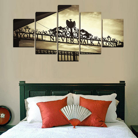Liverpool You'll Never Walk Alone Canvas Wall Art