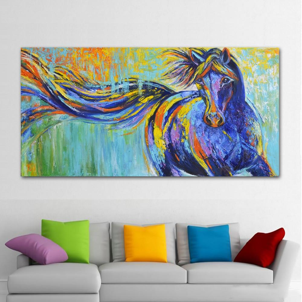 Modern Horse Oil Painting Wall Art