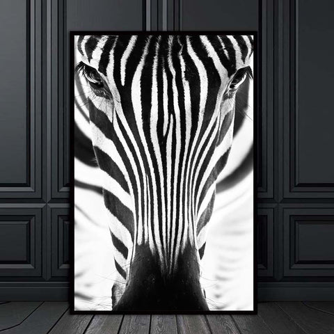 Image of Minimalism Wall Art Zebra Painting