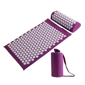Acupressure Massager Mat With Cushion + Bag