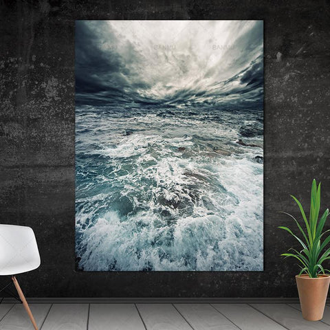 Image of Sea Water Canvas Wall Art