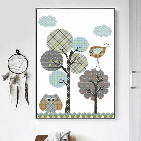 Jungle Owl Nursery Wall Decor