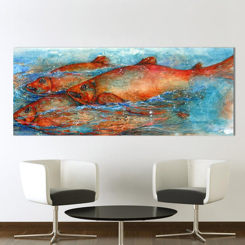 Image of Big Fish Wall Art Painting
