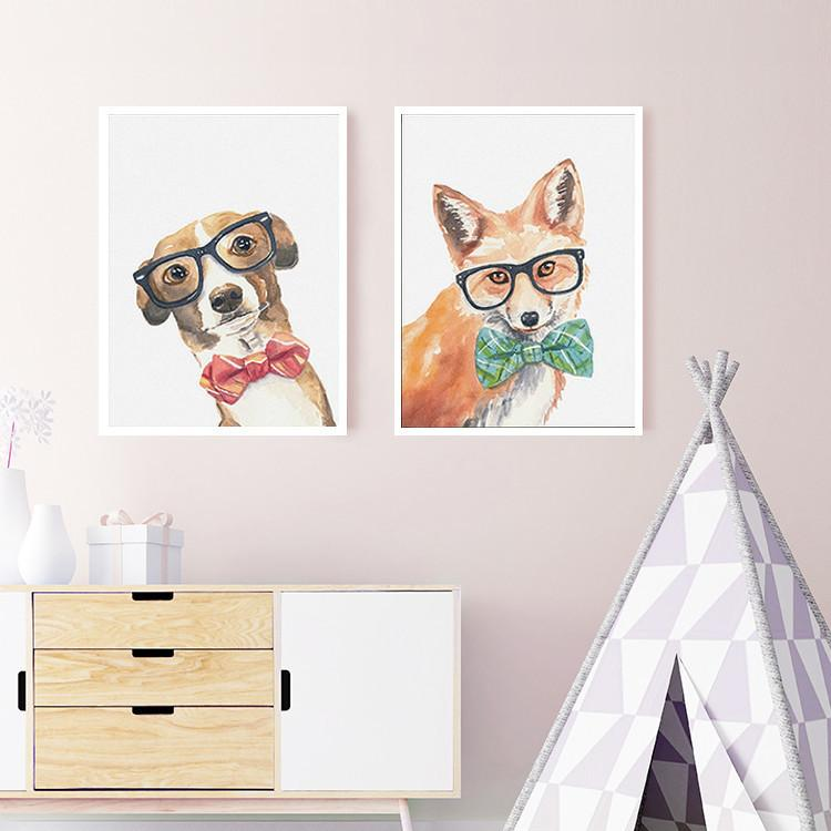 Cool Nerdy Dog Wall Art