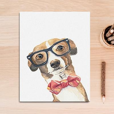 Image of Cool Nerdy Dog Wall Art