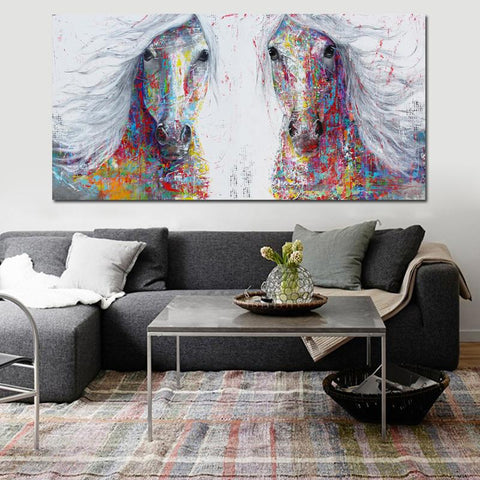 Image of Horse Wall Art - Splash Of Colors Canvas