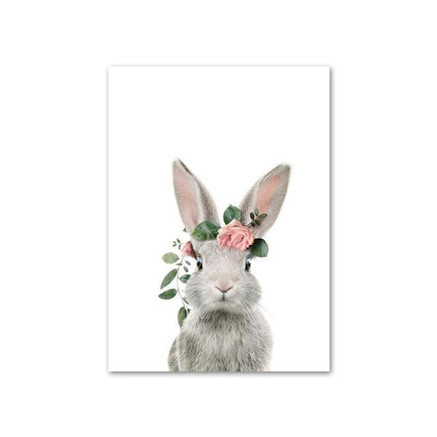 Baby Rabbit with Flower Crown
