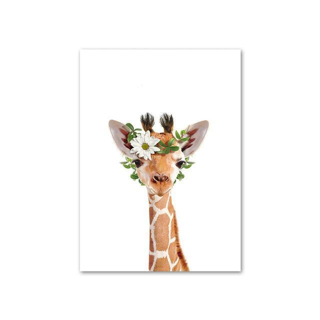 Baby Giraffe with Flower Crown