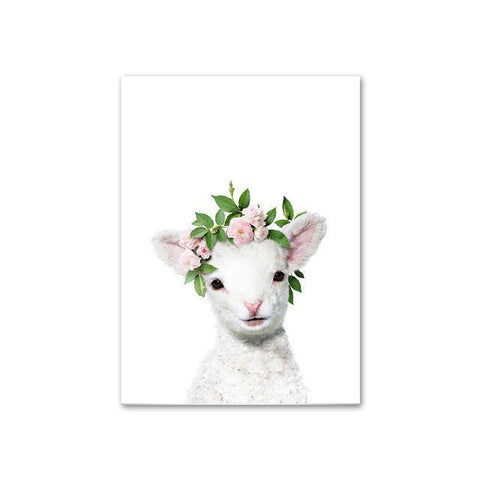 Baby Sheep with Flower Crown