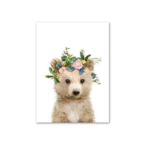 Baby Bear with Flower Crown