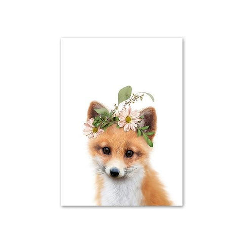 Image of Baby Fox with Flower Crown
