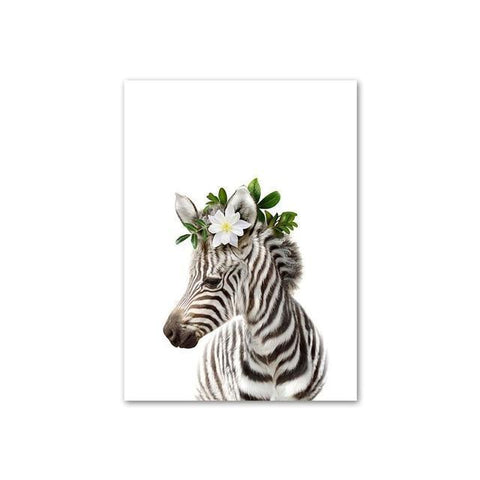 Image of Baby Zebra with Flower Crown