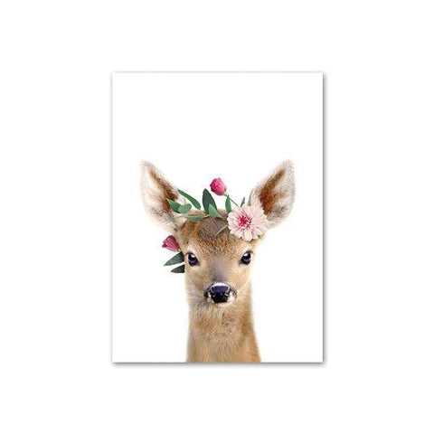 Image of Baby Deer with Flower Crown
